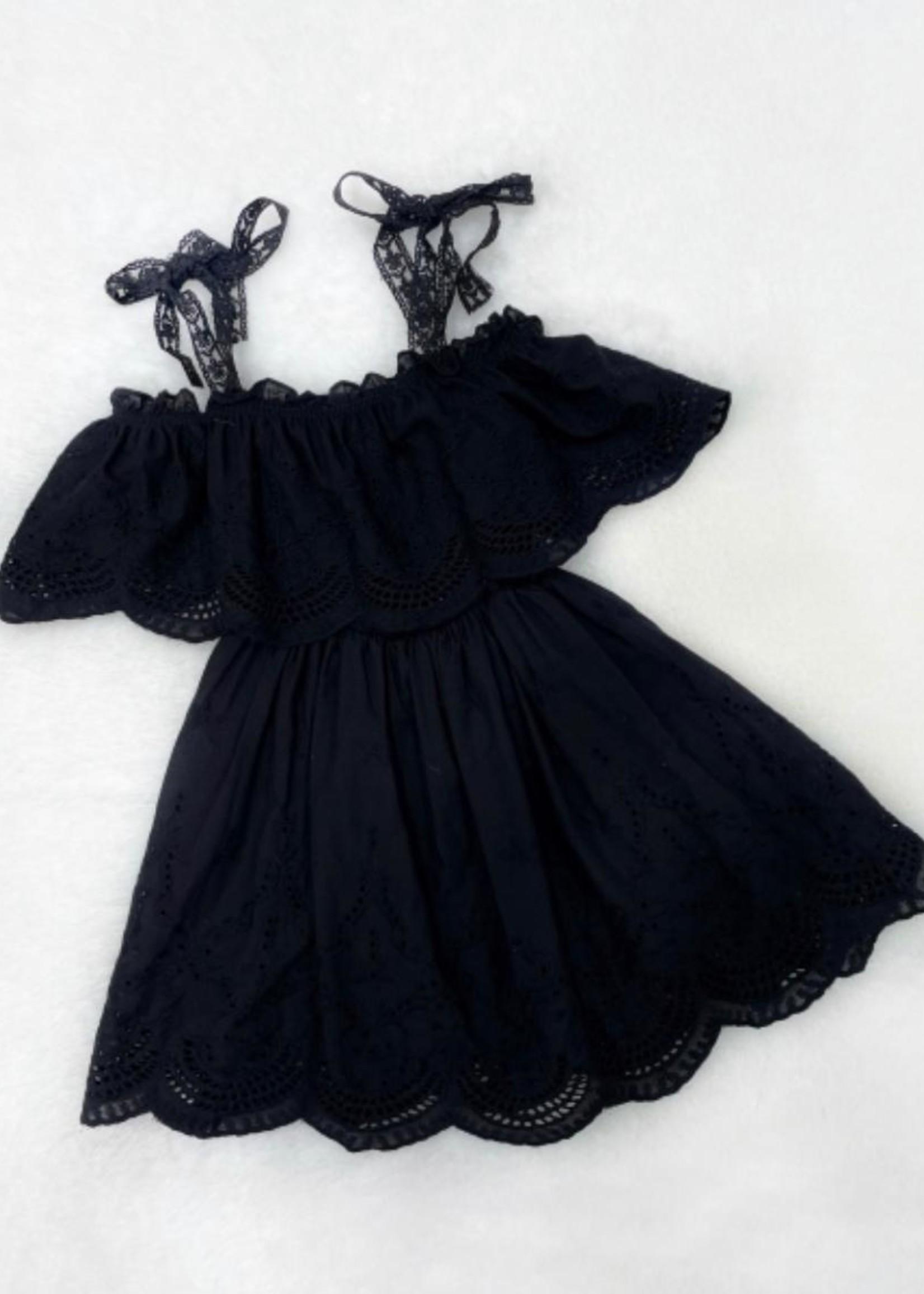 Divanis Divanis roesel dress zwart