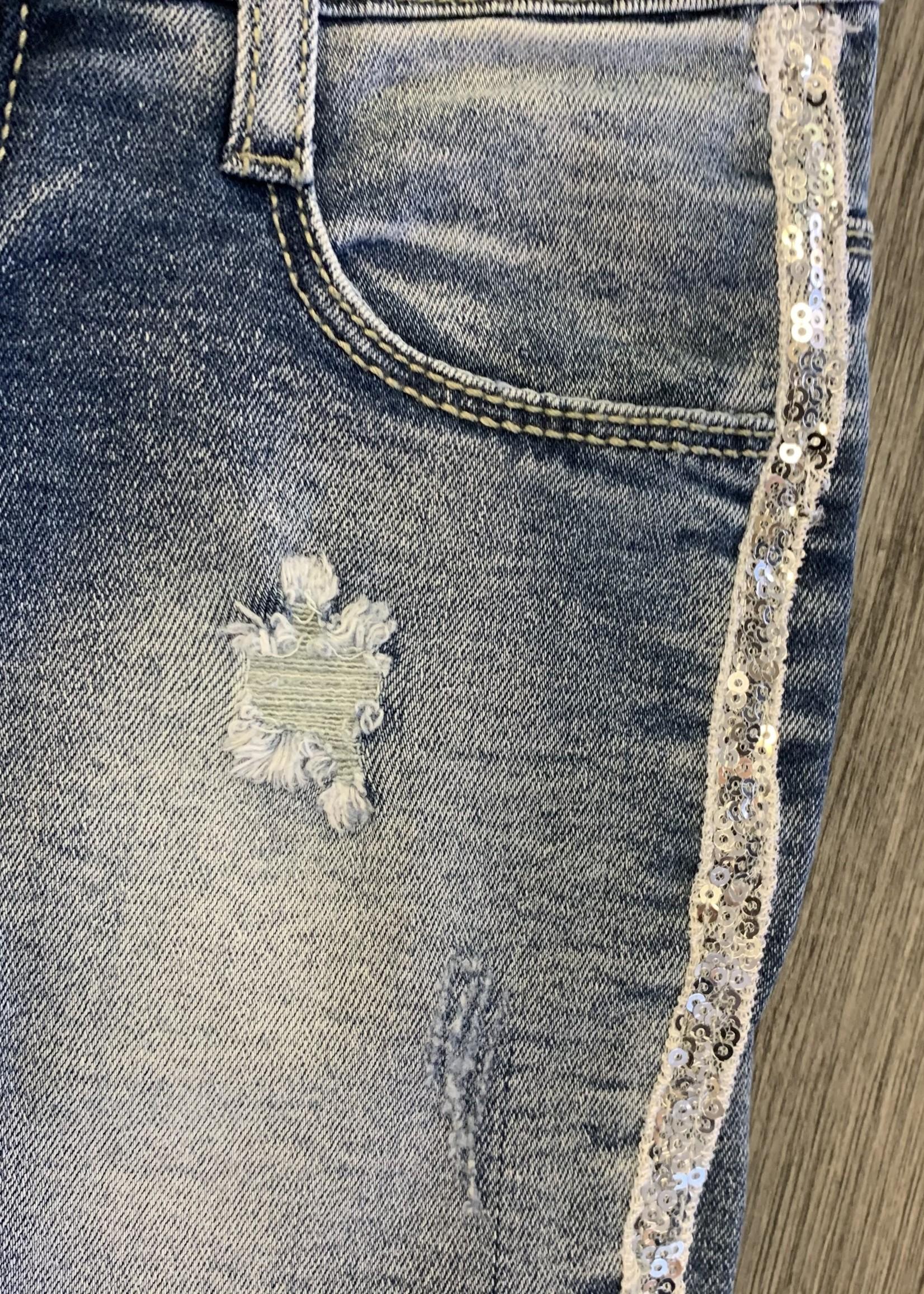 Divanis Divanis spijkerbroekje met pailletten