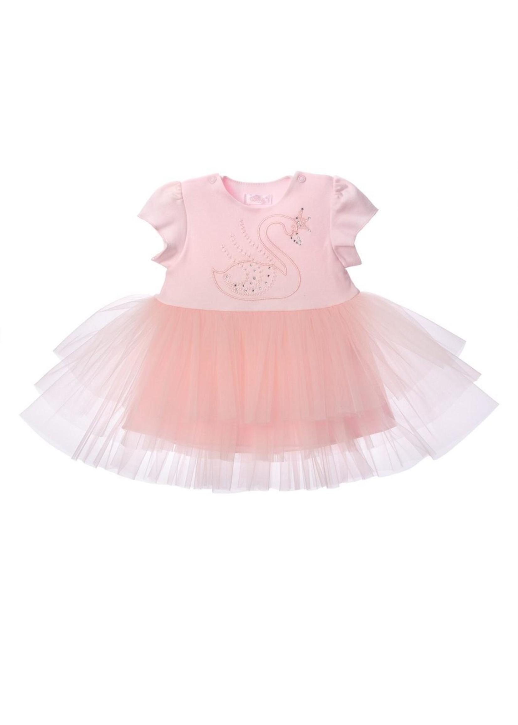 Sofija Sofija zwanen jurk roze