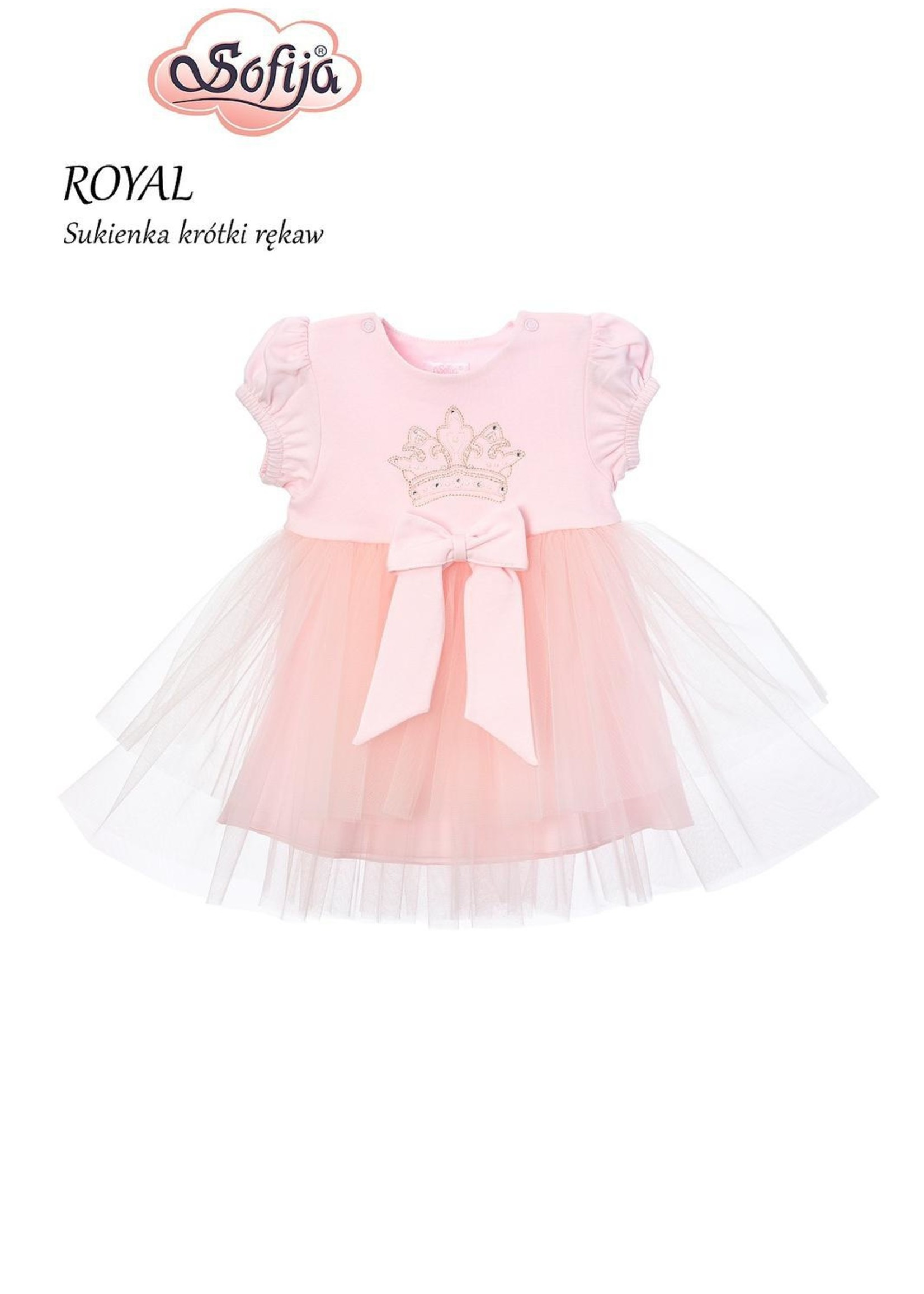 Sofija Sofija crown dress short sleeve pink