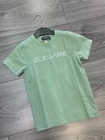 2LEGARE 2LEGARE Kids logo tee light army green white