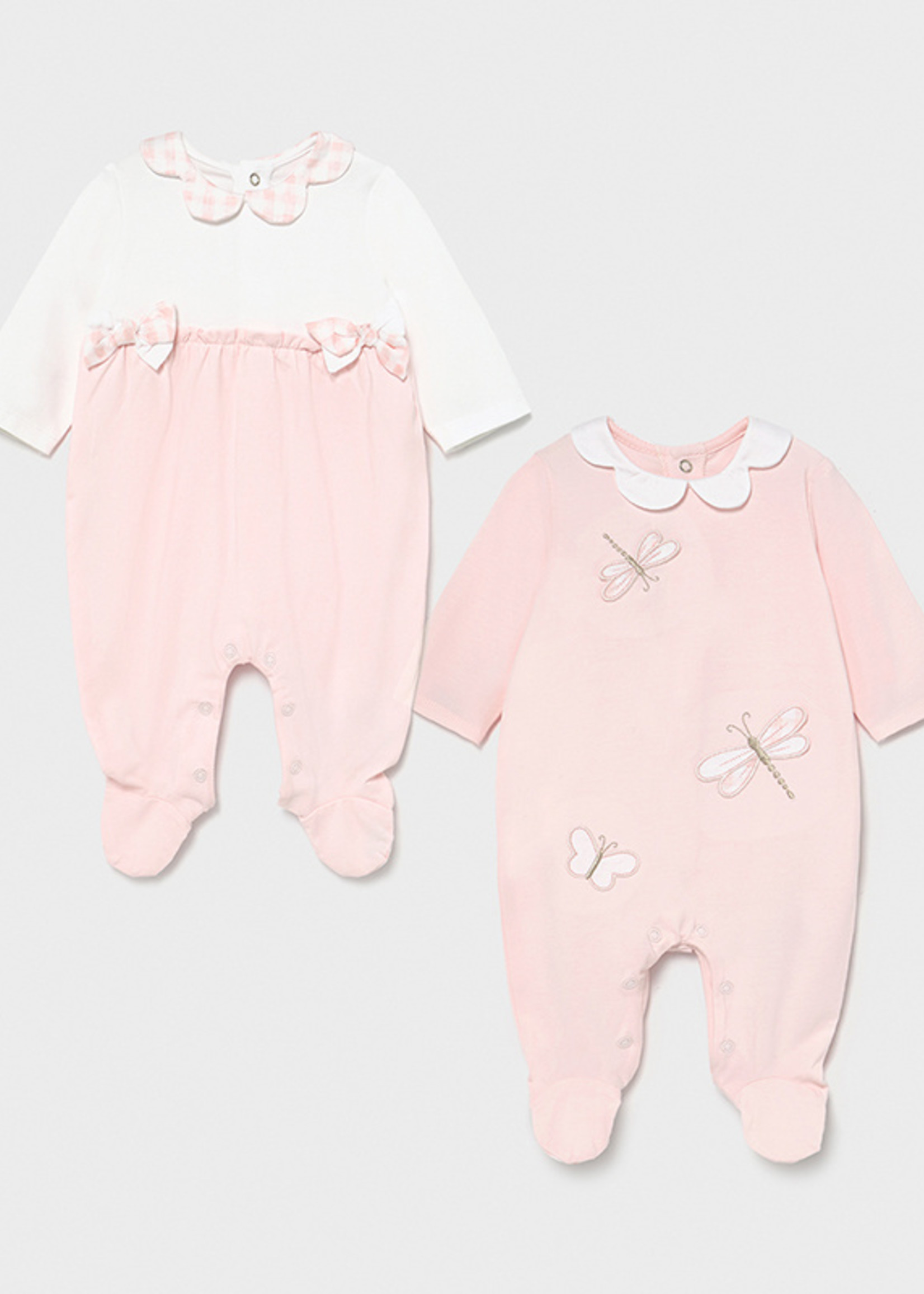 Mayoral Mayoral long onesie set of two baby rose