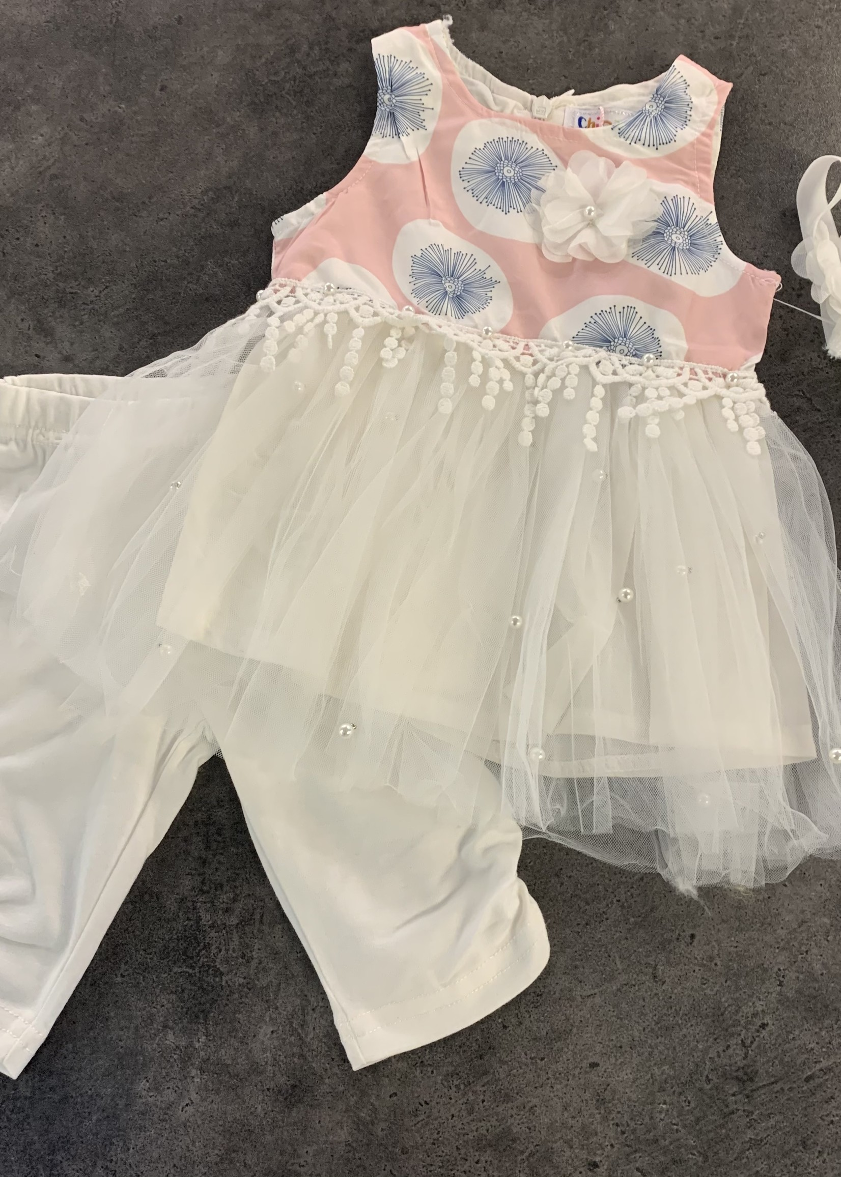 Divanis Divanis baby flower dress set