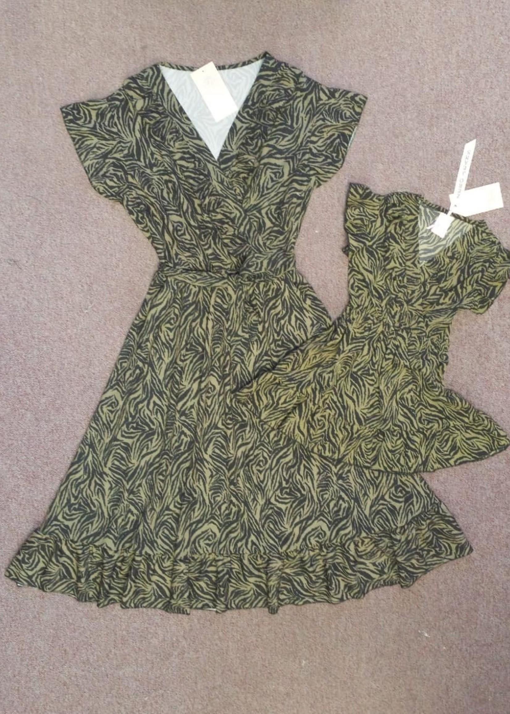 Zero Zero moeder dress armygreen