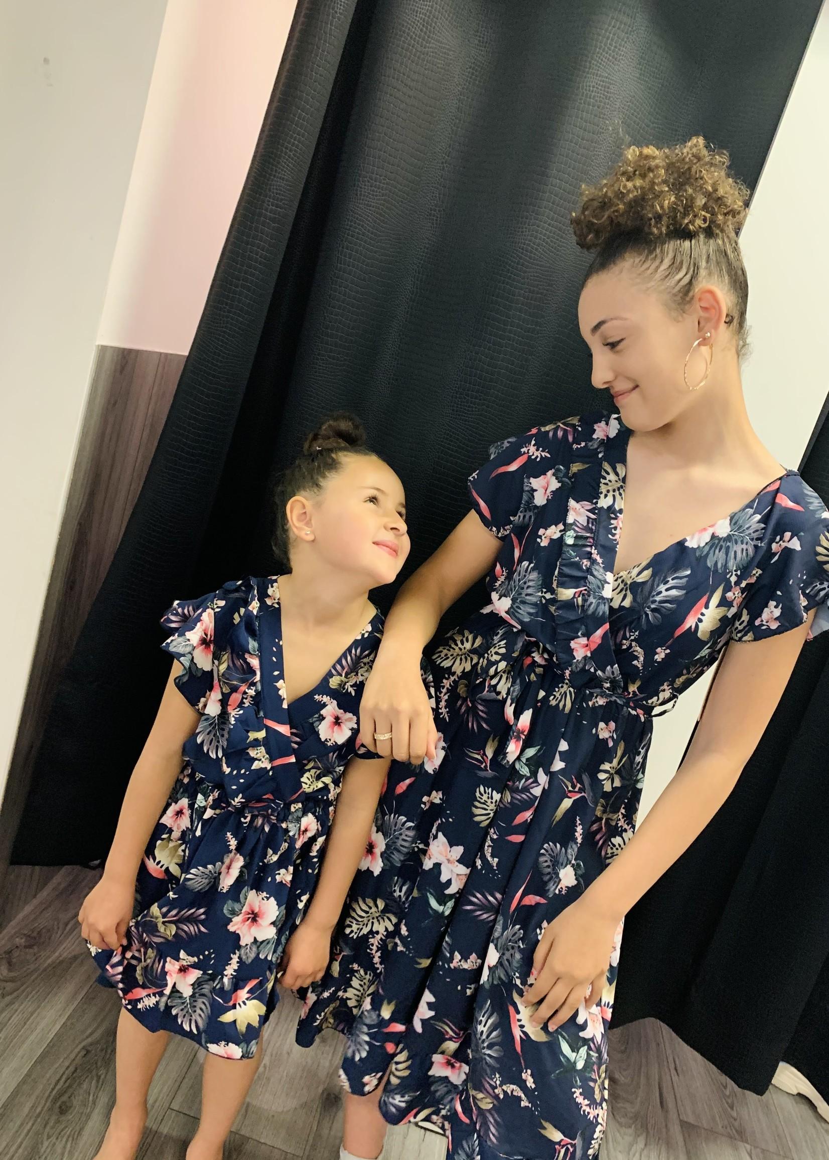 Zero Zero dochter dress donkerblauw