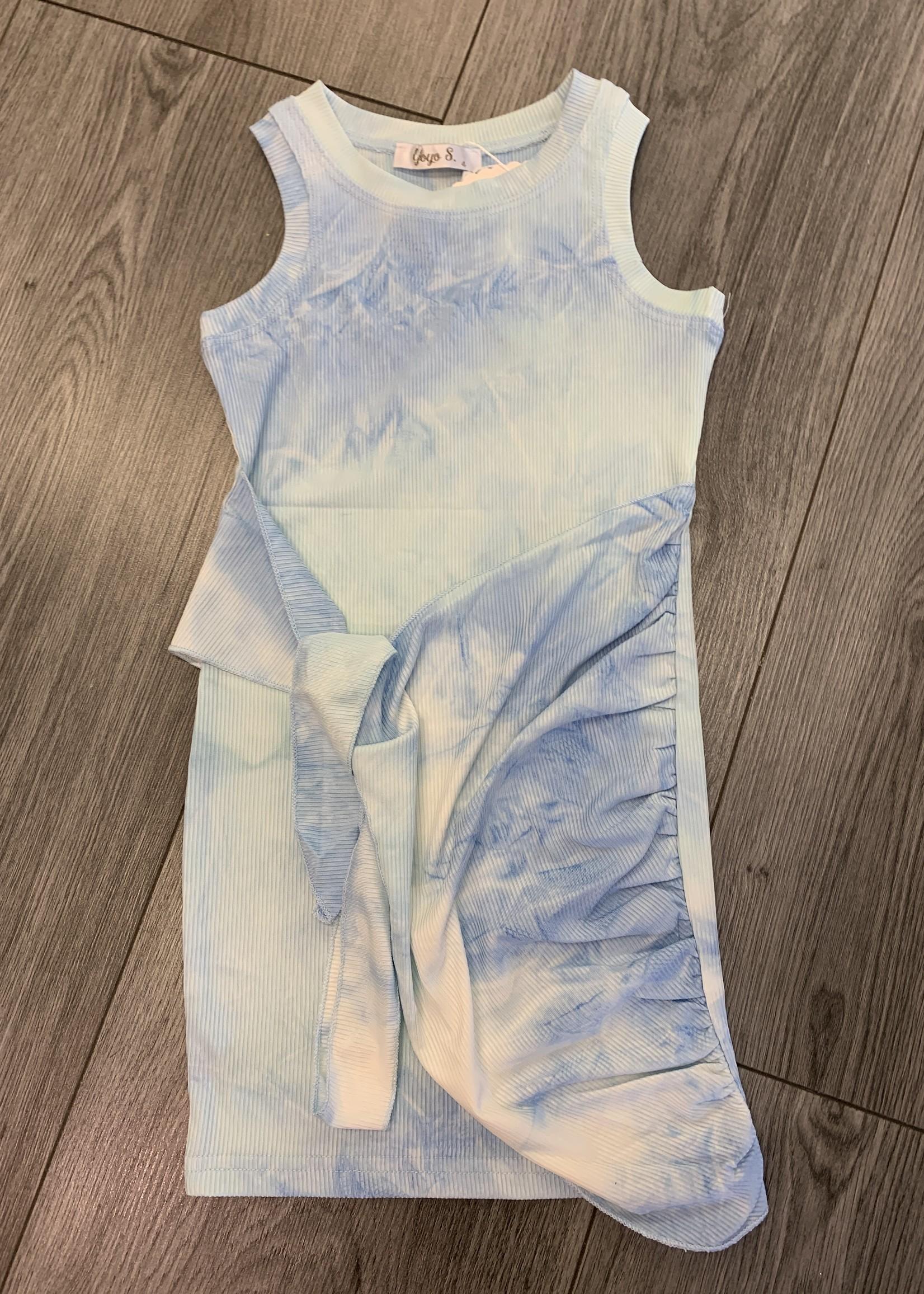 Divanis Divanis tiedye pastel dress blue