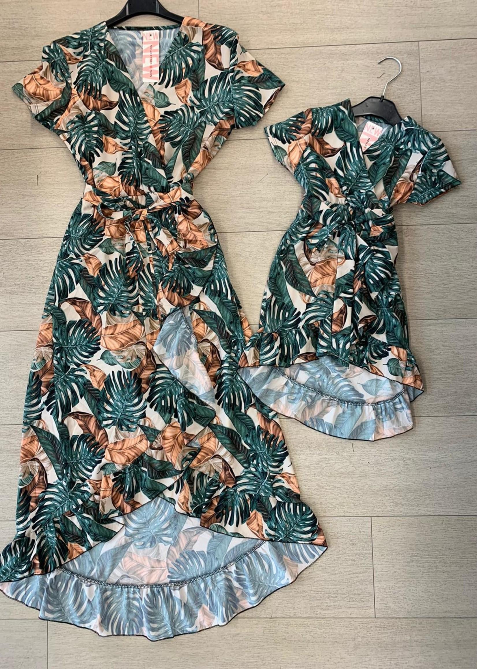 Divanis Divanis moeder bladprint dress