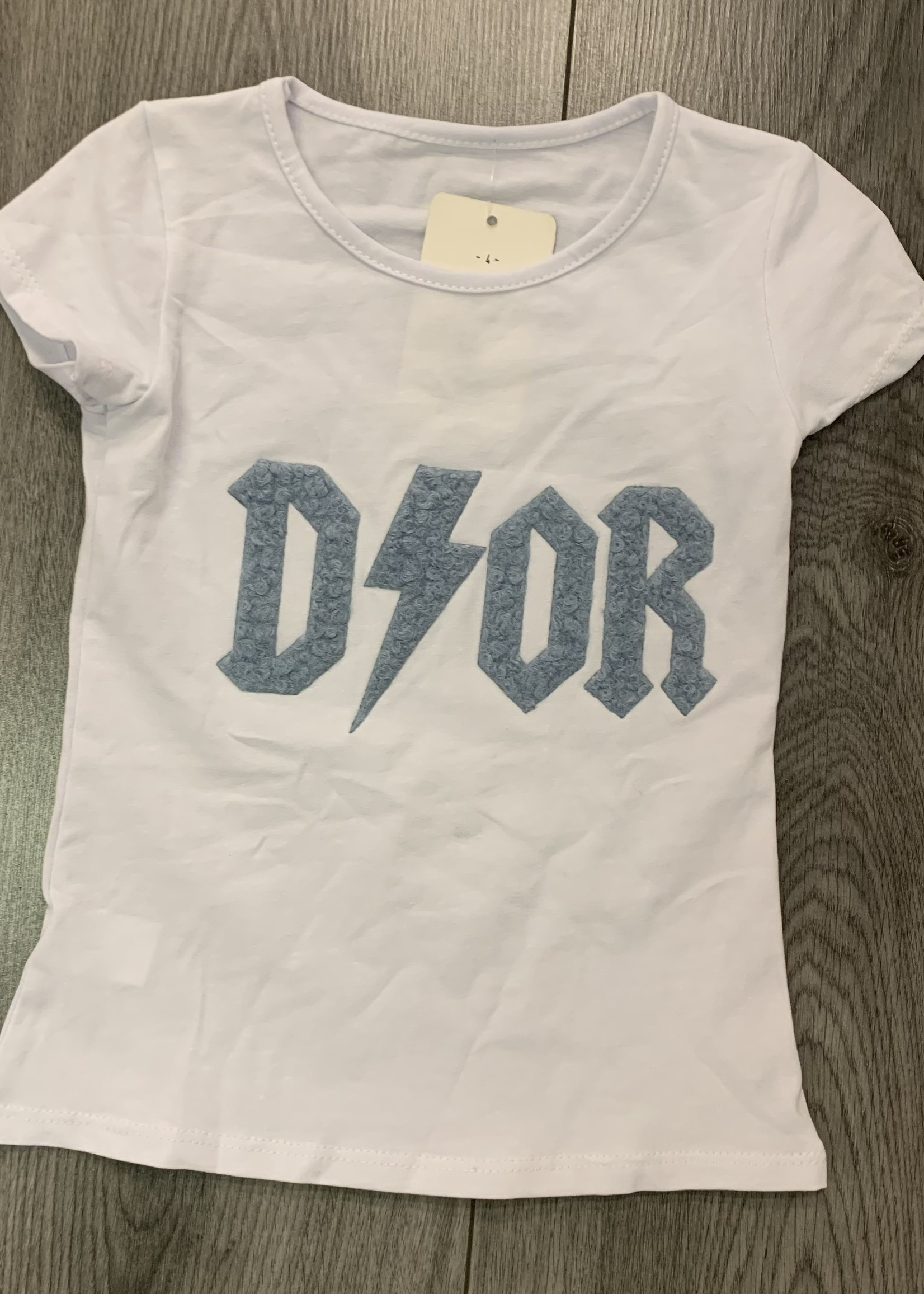 Divanis Divanis dior tshirt blauwe letters