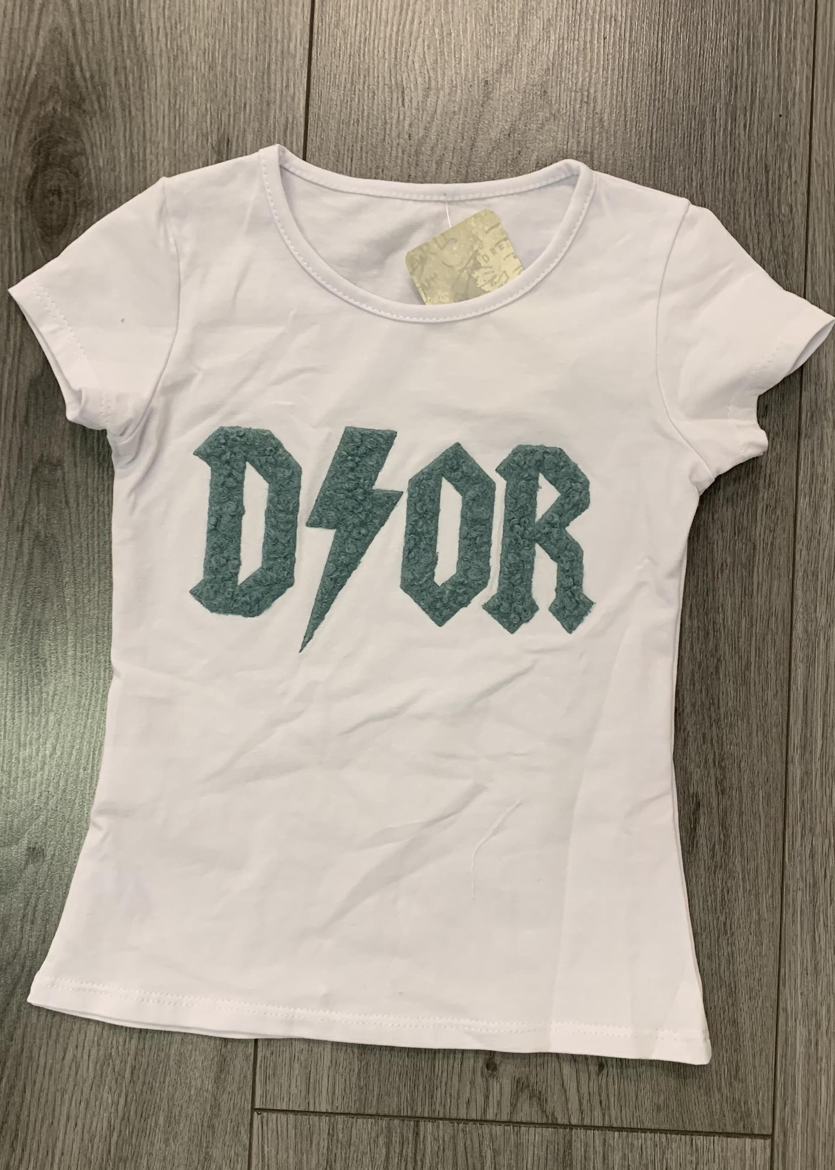 Divanis Divanis dior tshirt groene letters
