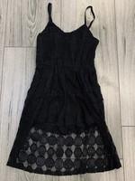 Divanis Divanis flower kanten jumpsuit jurk zwart