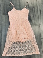 Divanis Divanis flower kanten jumpsuit jurk roze