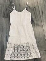 Divanis Divanis flower kanten jumpsuit jurk wit
