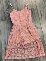 Divanis Divanis flower kanten jumpsuit jurk oudroze