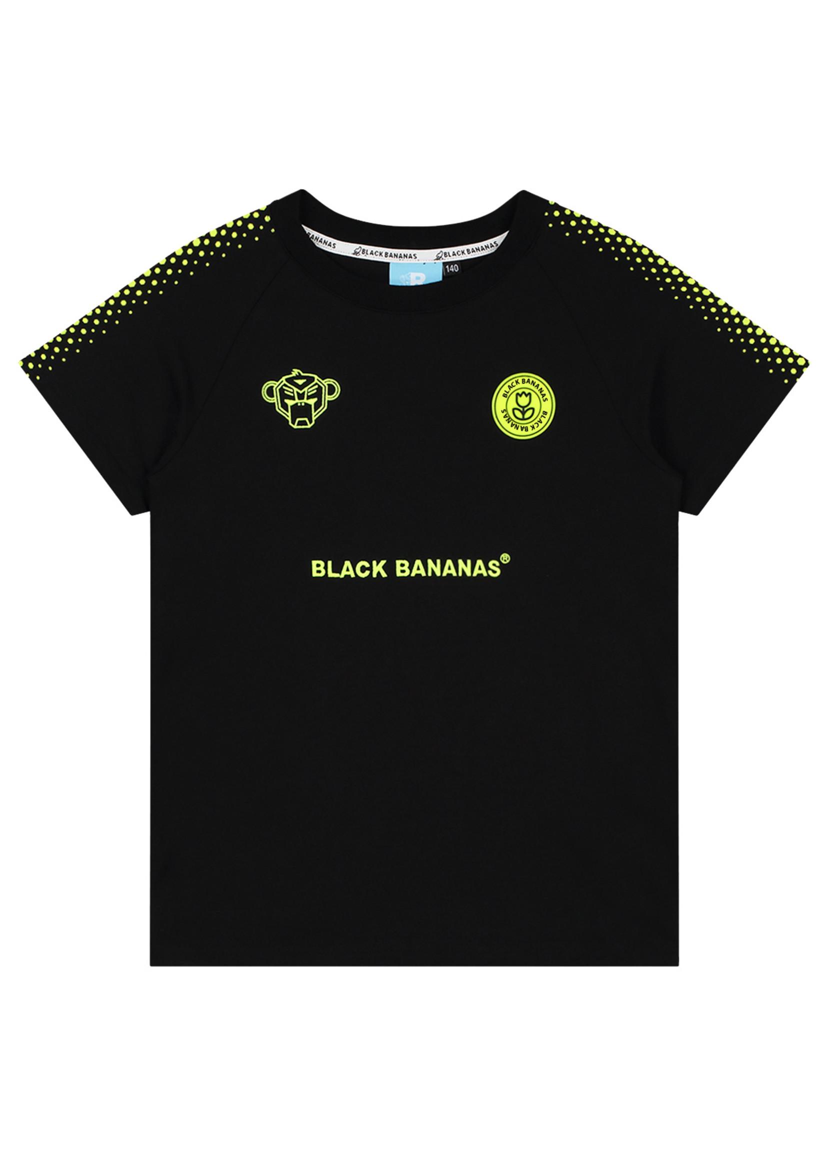 Black Bananas BlackBananas Jr Hexagon Tee black/neon yellow