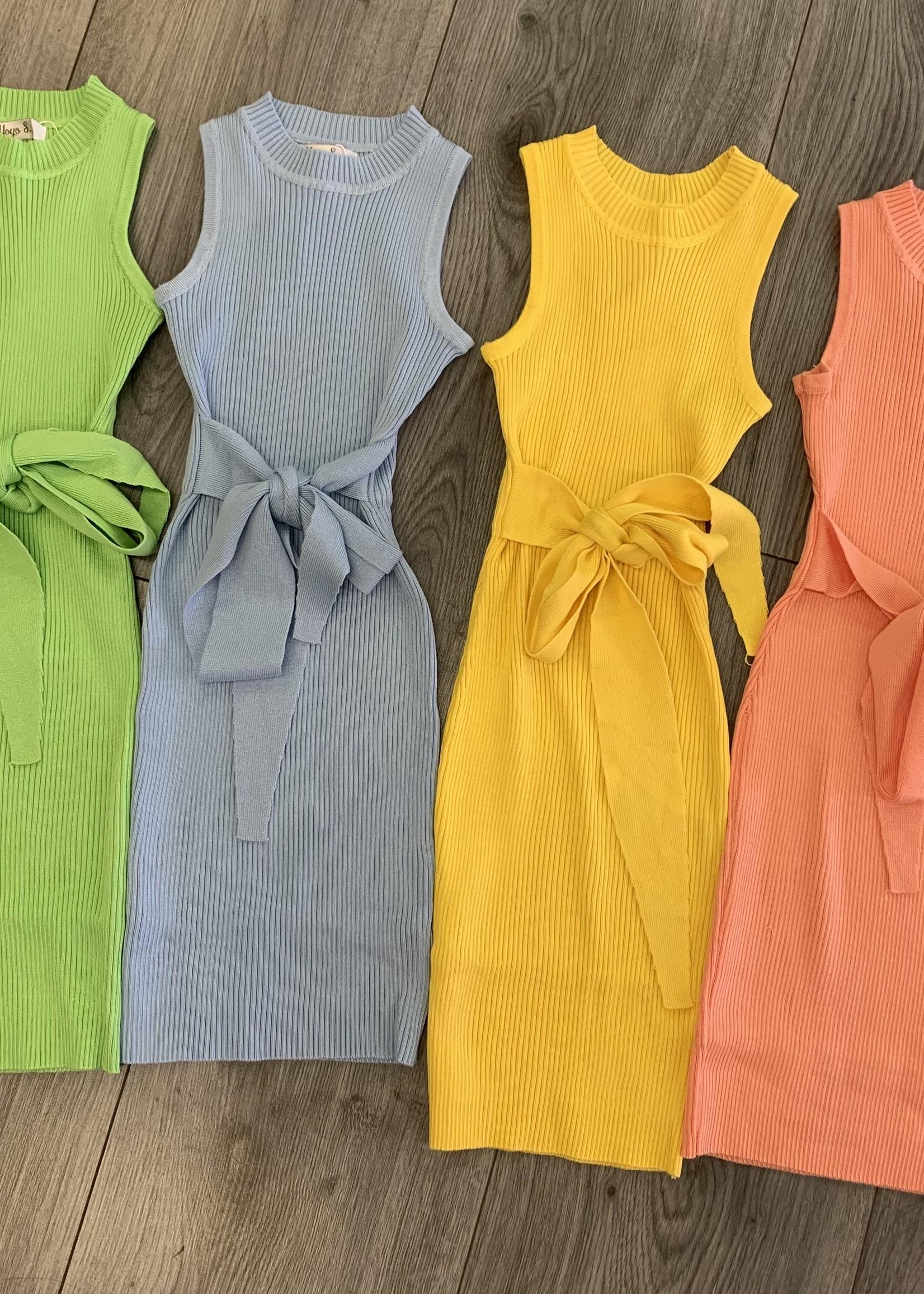 Divanis Divanis knoop jurk groen