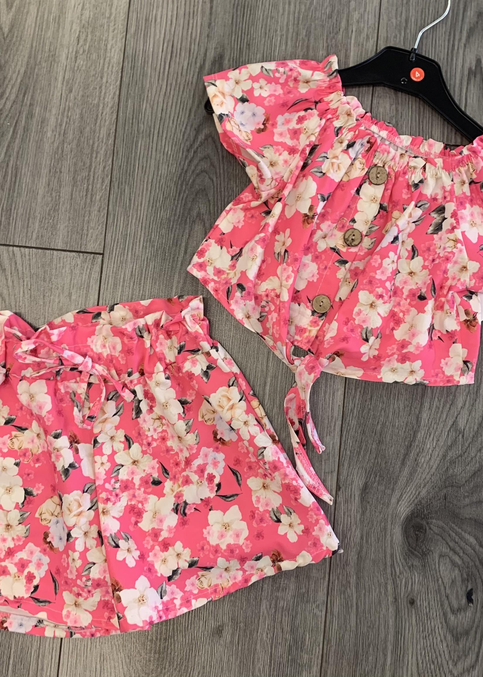 Divanis Divanis pink flower set