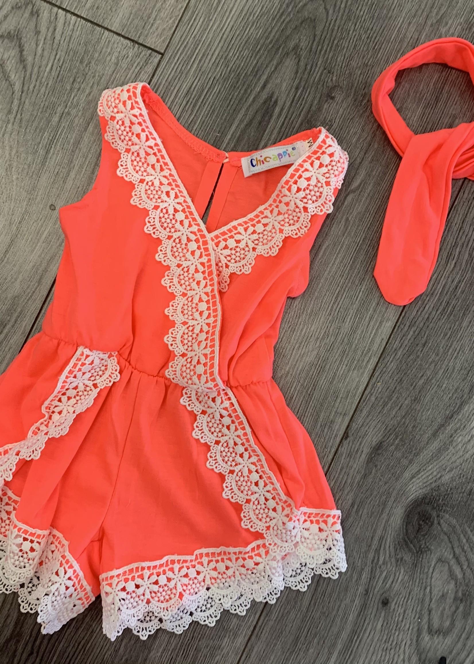 Divanis Divanis neon pink jumpsuit