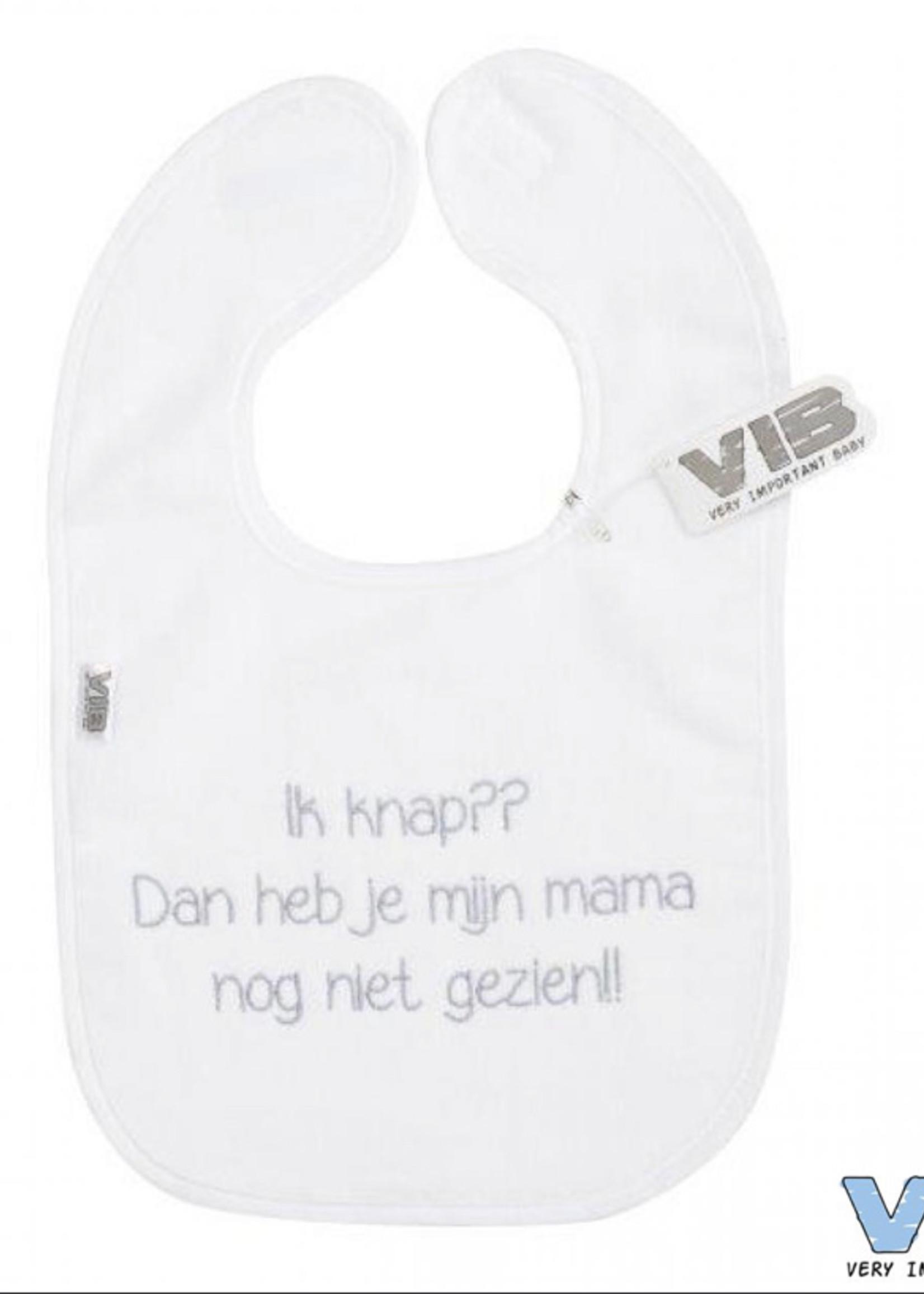 Very Important Baby Slabbetje ik knap? wit