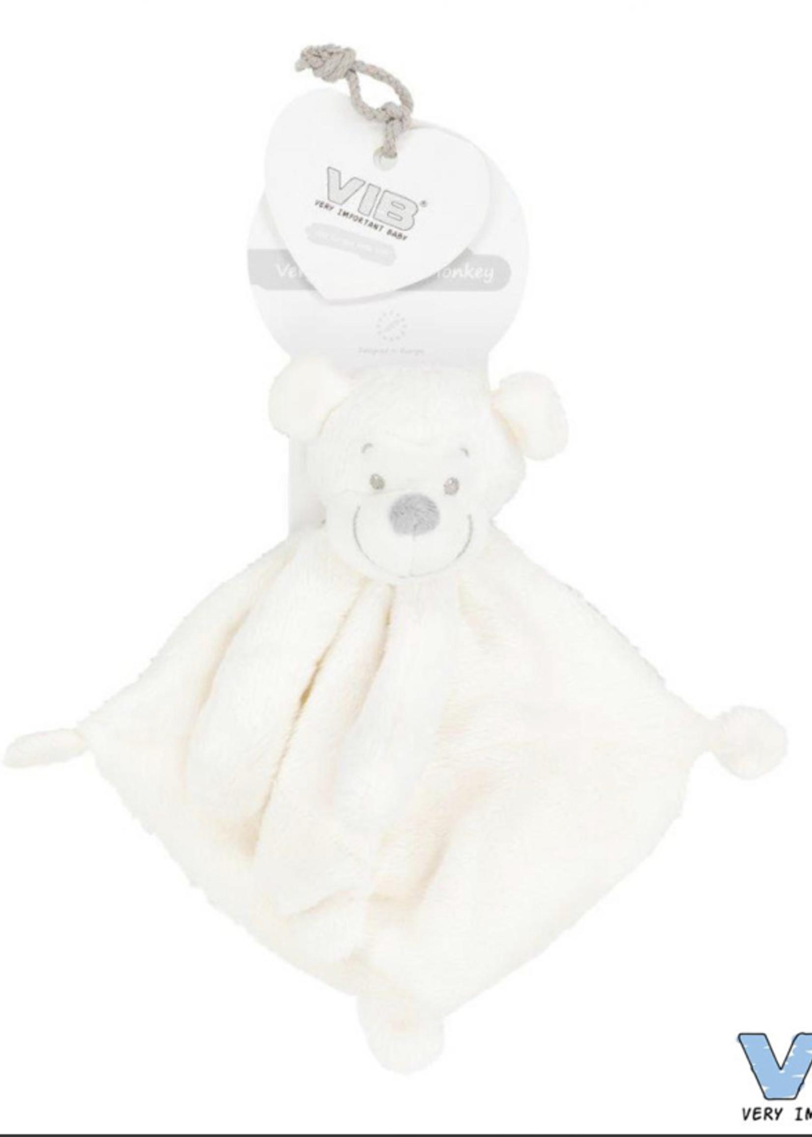 Very Important Baby Knuffeldoekje met Apenhoofd wit