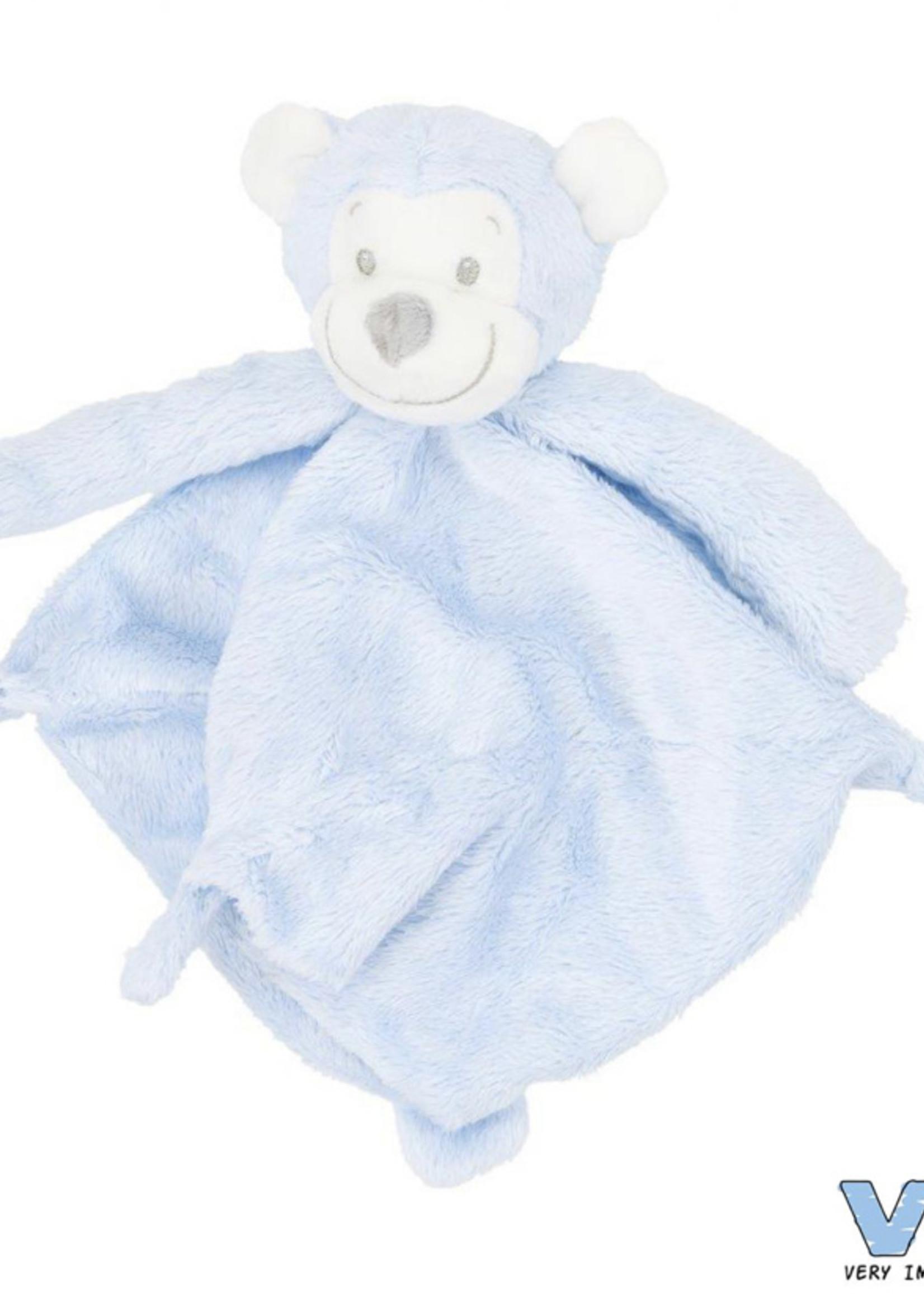 Very Important Baby Knuffeldoekje met Apenhoofd blauw