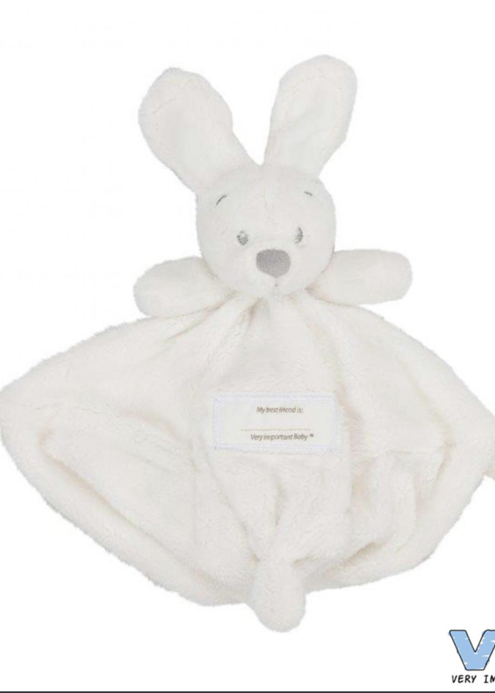 Very Important Baby Knuffeldoekje met konijnenhoofd wit