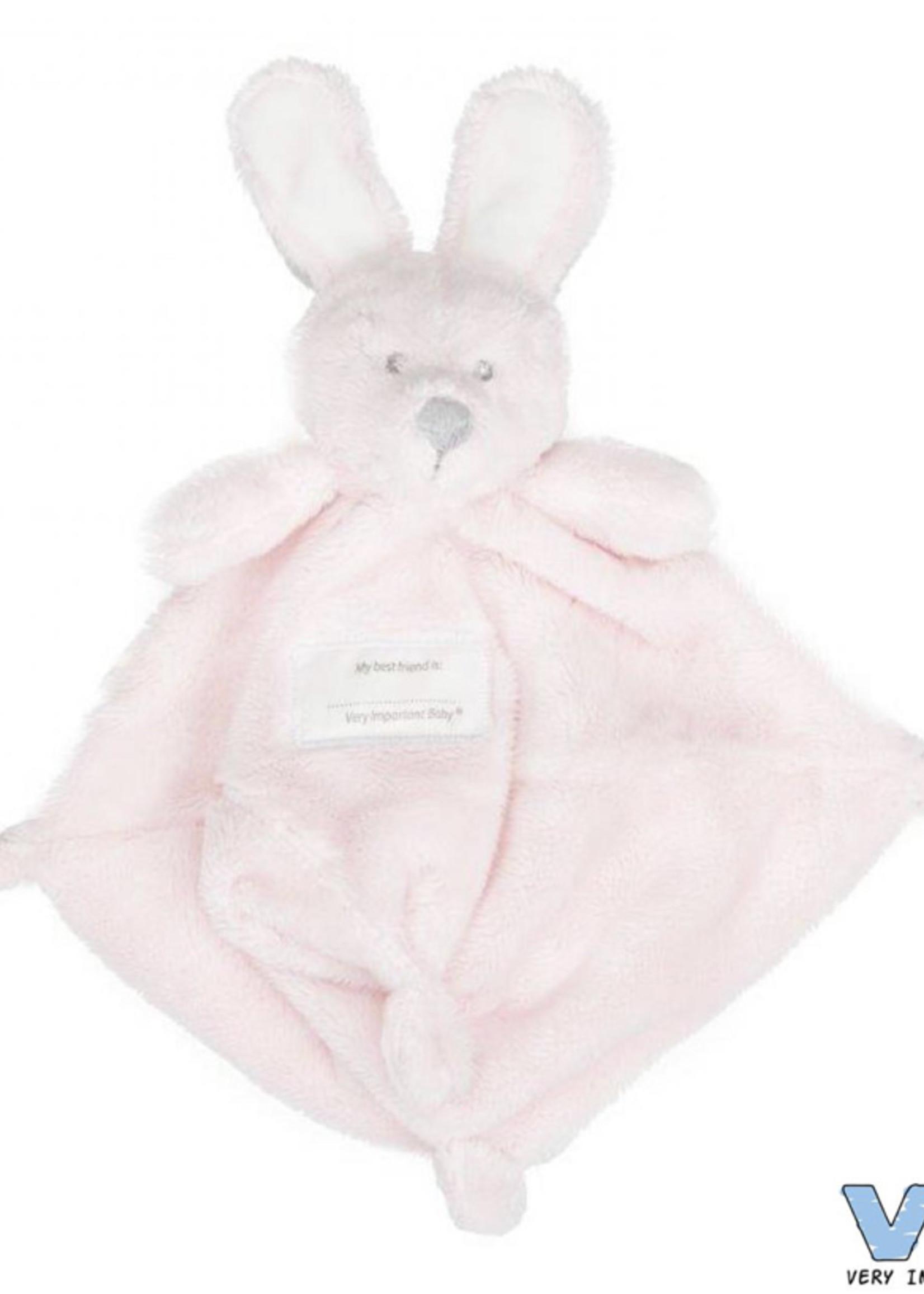 Very Important Baby Knuffeldoekje met konijnenhoofd roze