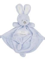 Very Important Baby Knuffeldoekje met konijnenhoofd blauw