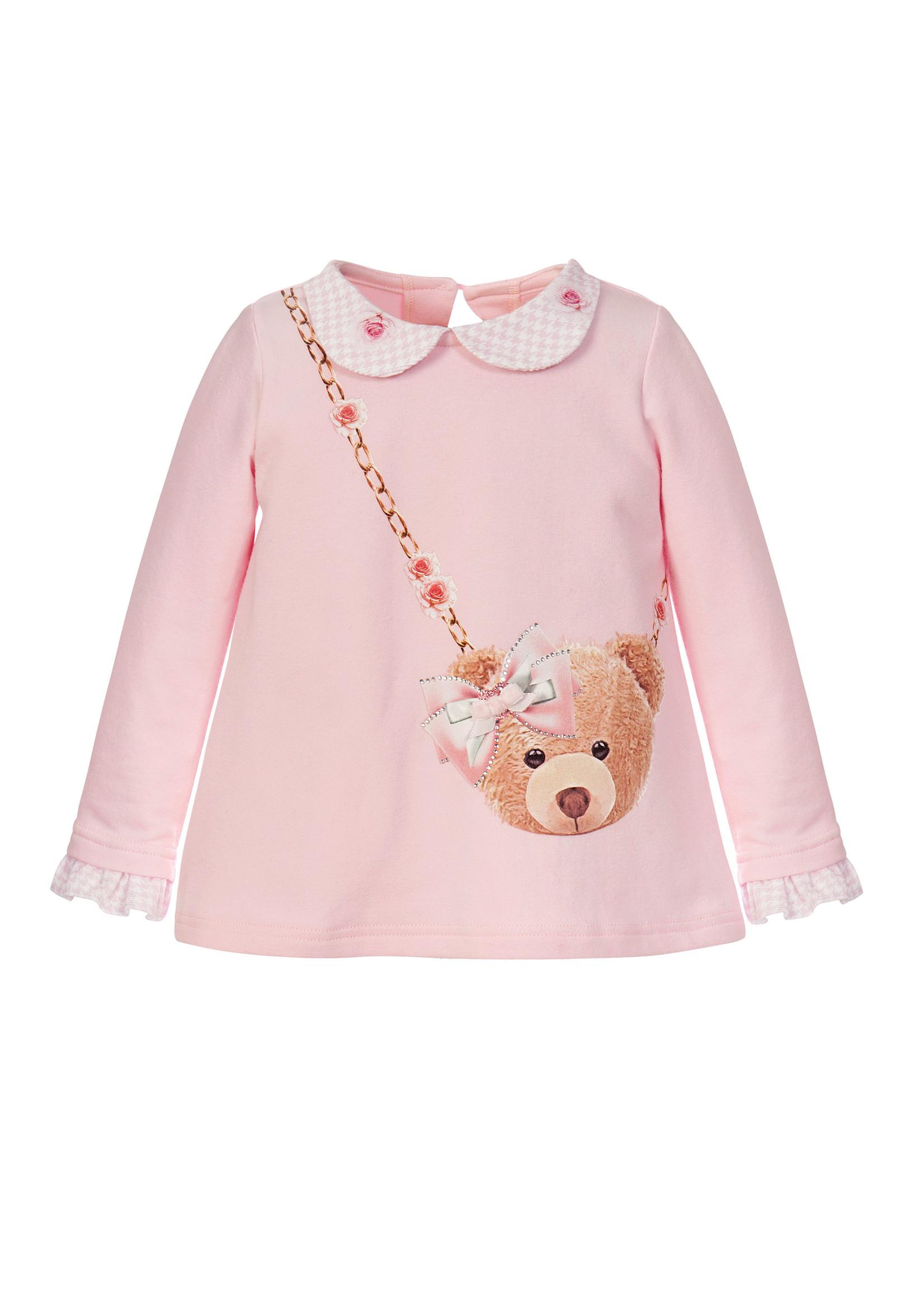 Balloon Chic Balloon Chic top met beren tasje roze