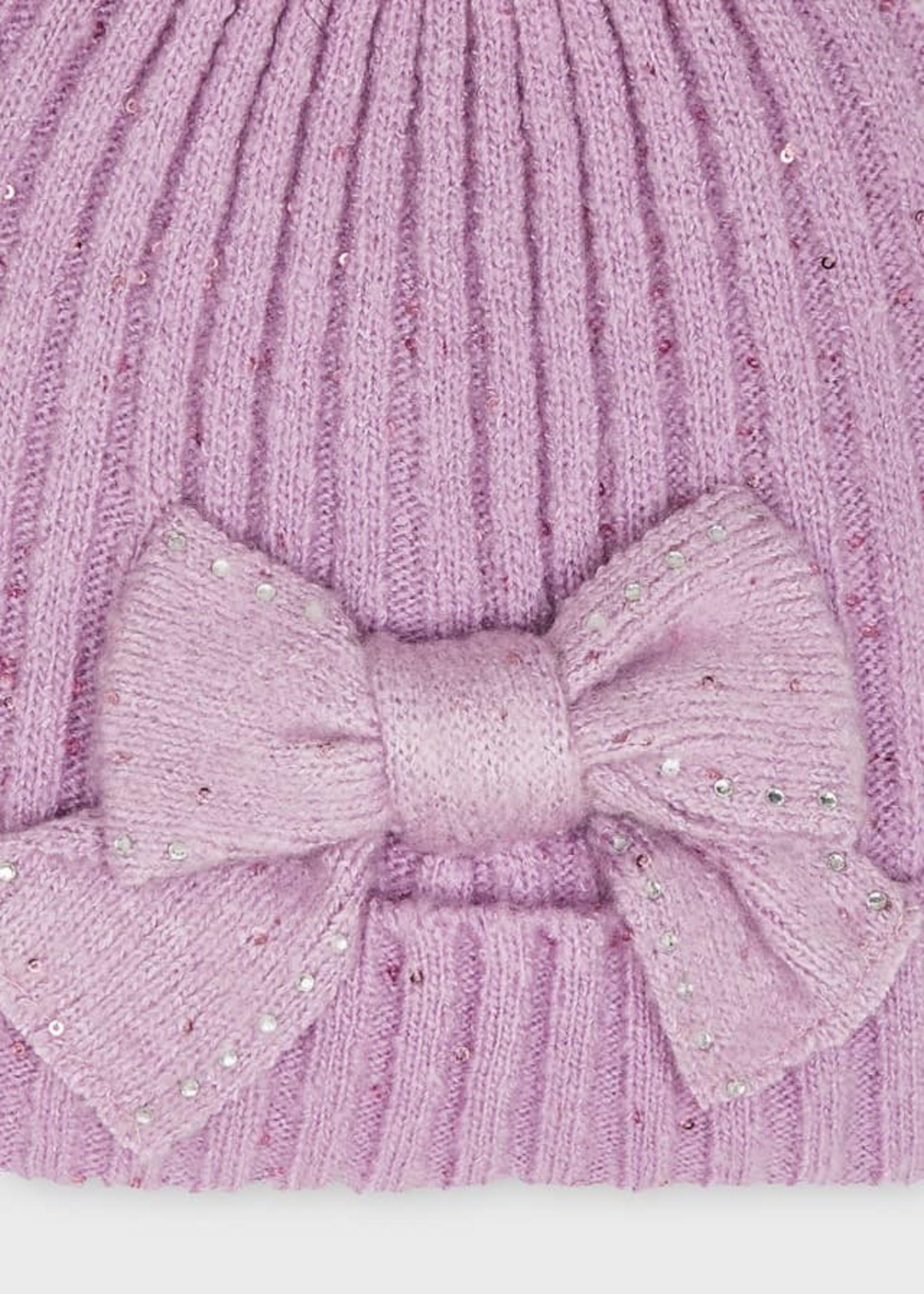 Mayoral Mayoral hat and scarf set lilac