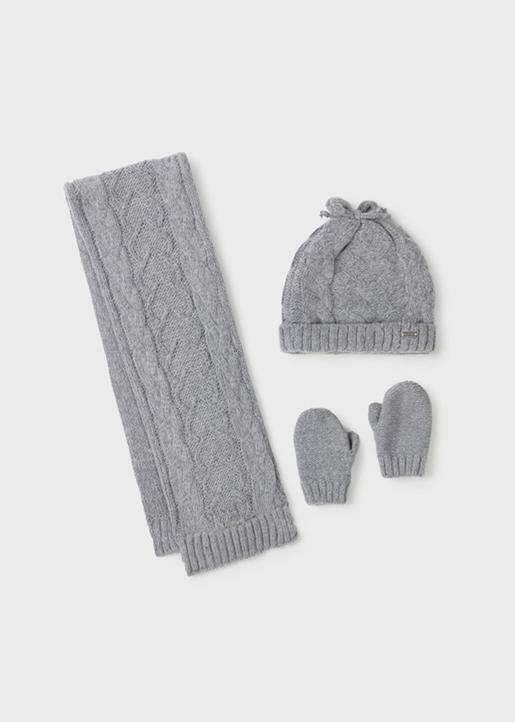 Mayoral Mayoral silver hat-scarf set