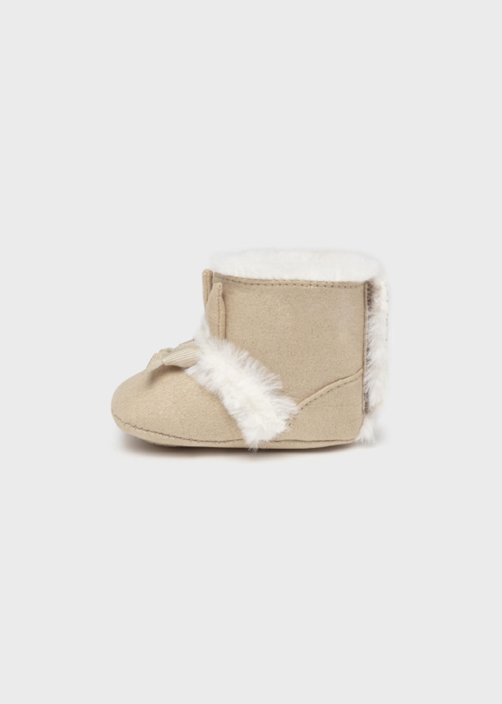 Mayoral Mayoral Faux fur boots beige