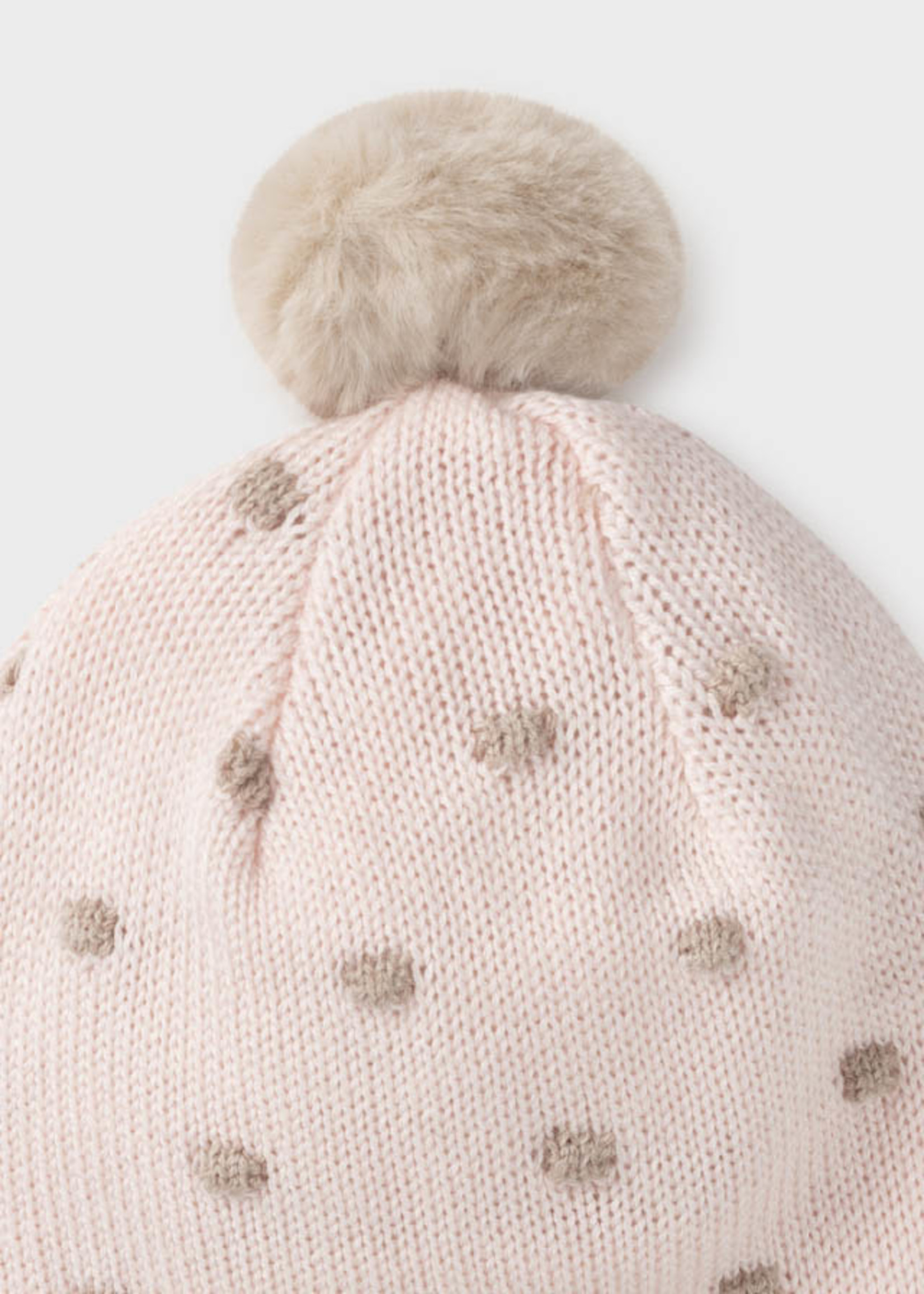 Mayoral Mayoral hat and mittens set baby rose