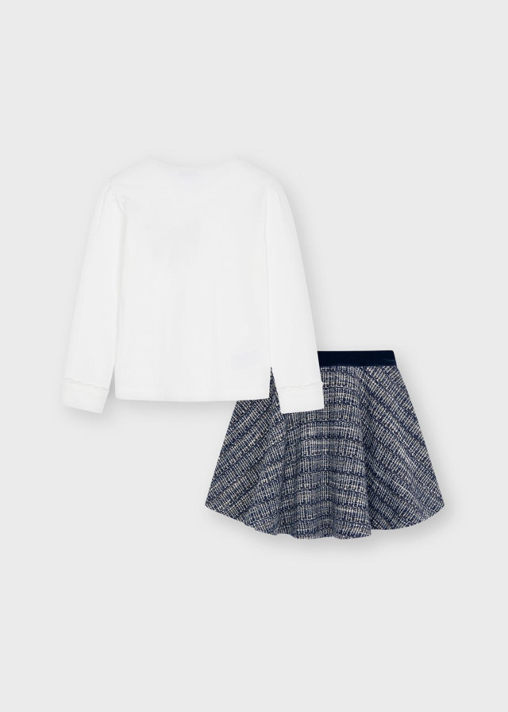 Mayoral Mayoral tweed skirt set