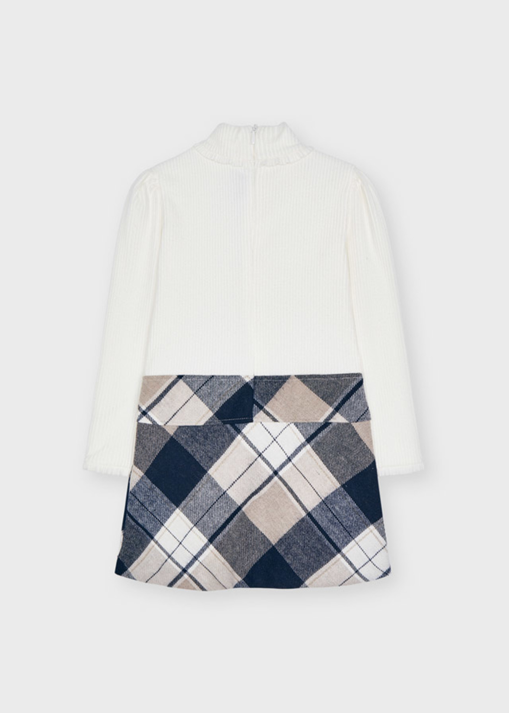 Mayoral Mayoral plaid combined dress navy