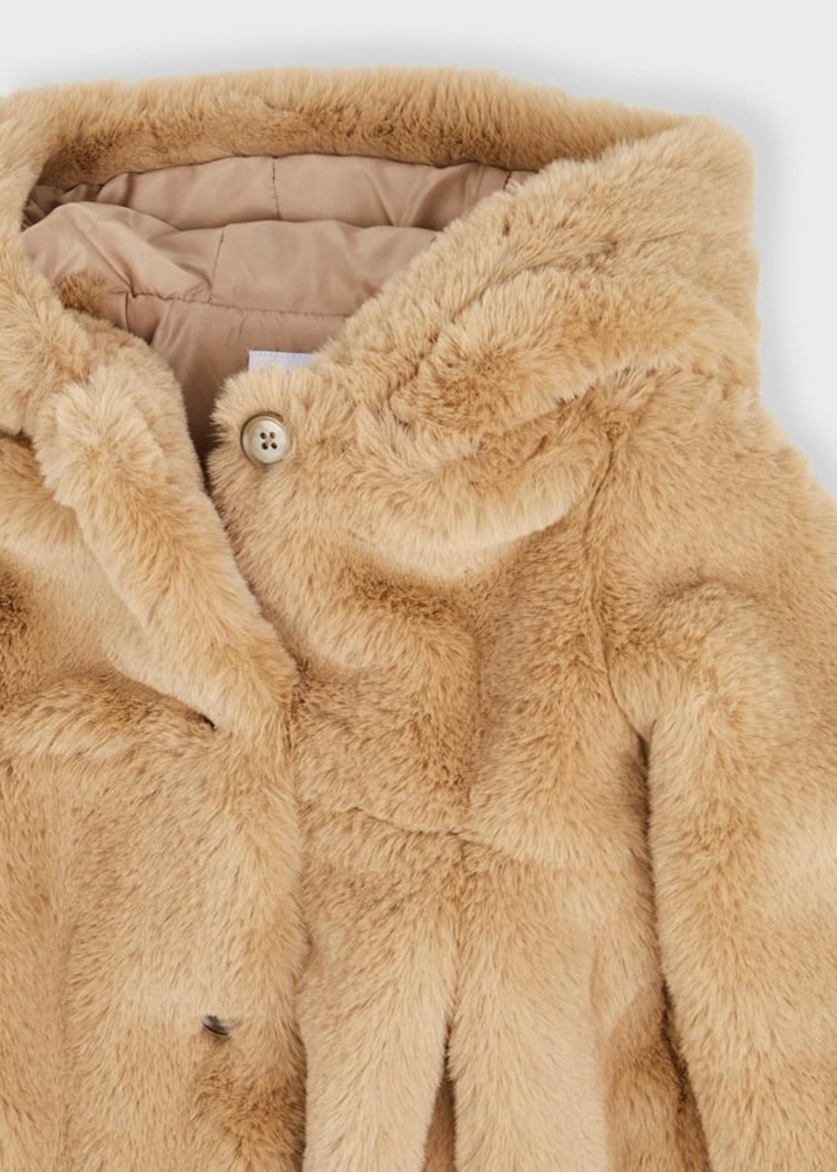 Mayoral Mayoral fur coat hazelnut