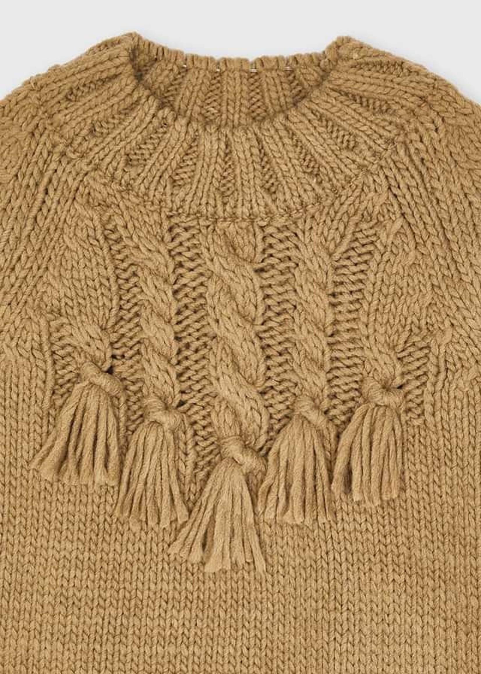 Mayoral Mayoral braided sweater hazelnut