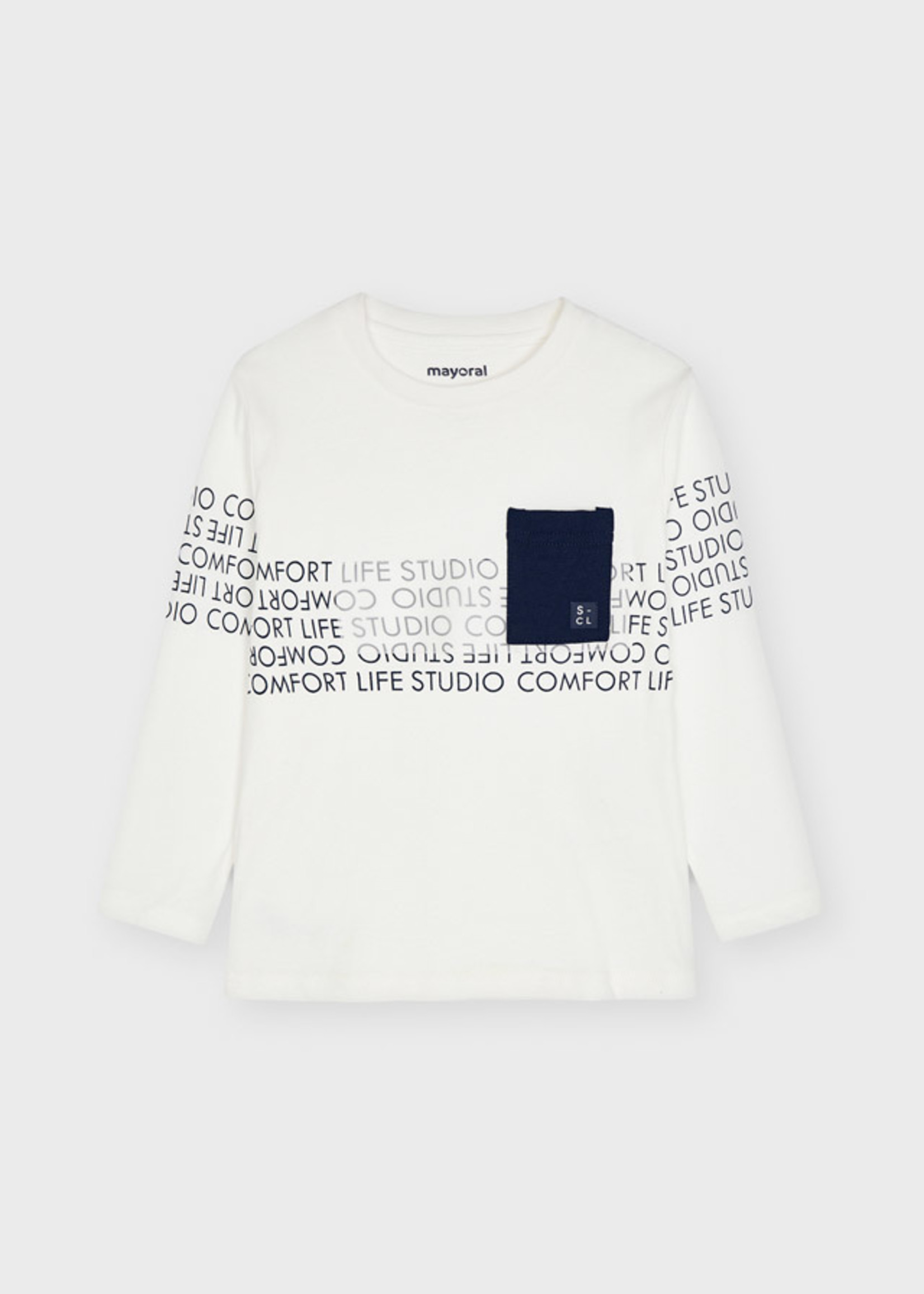 Mayoral Mayoral letter l/s thsirt cream