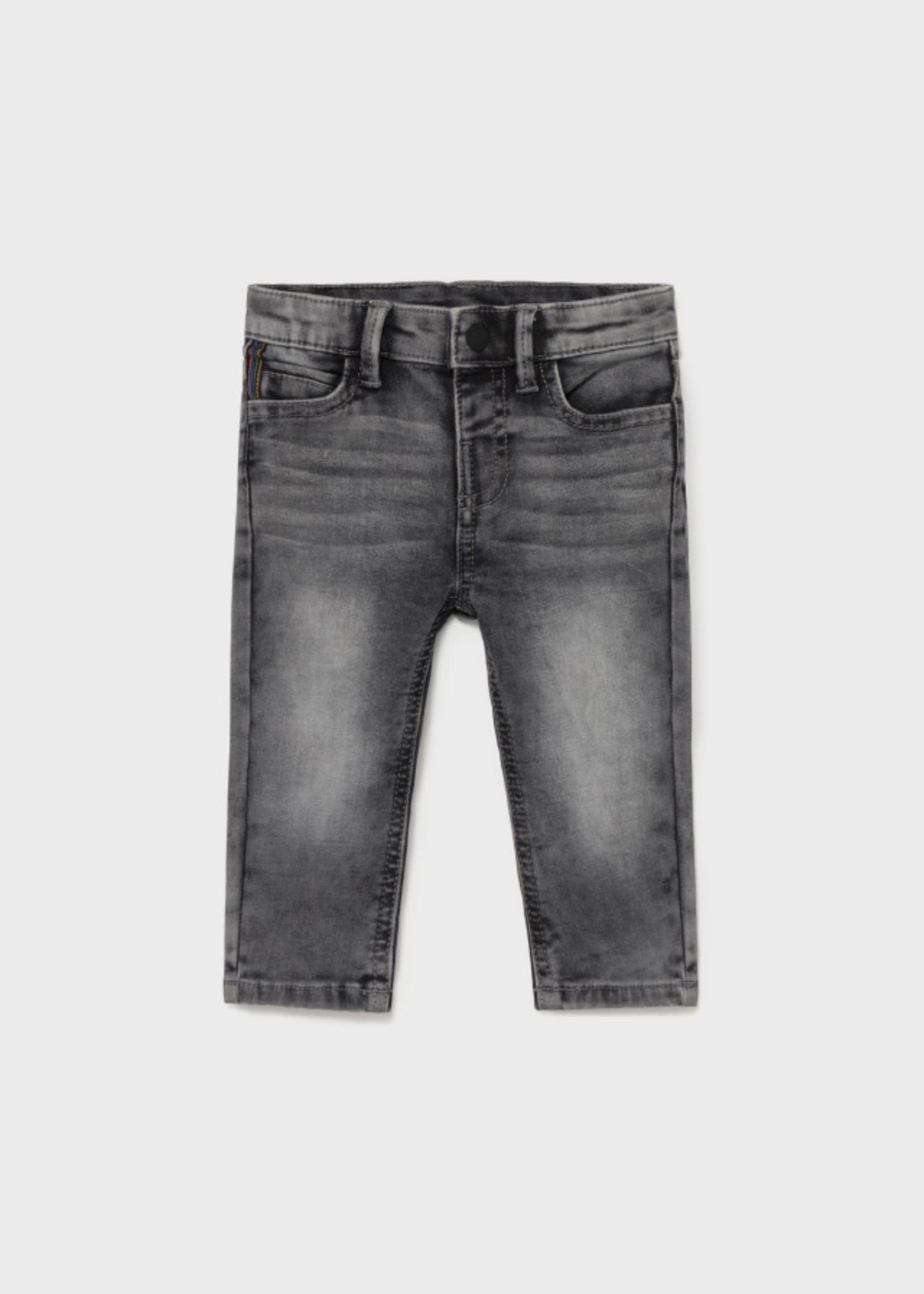 Mayoral Mayoral soft denim pants gray
