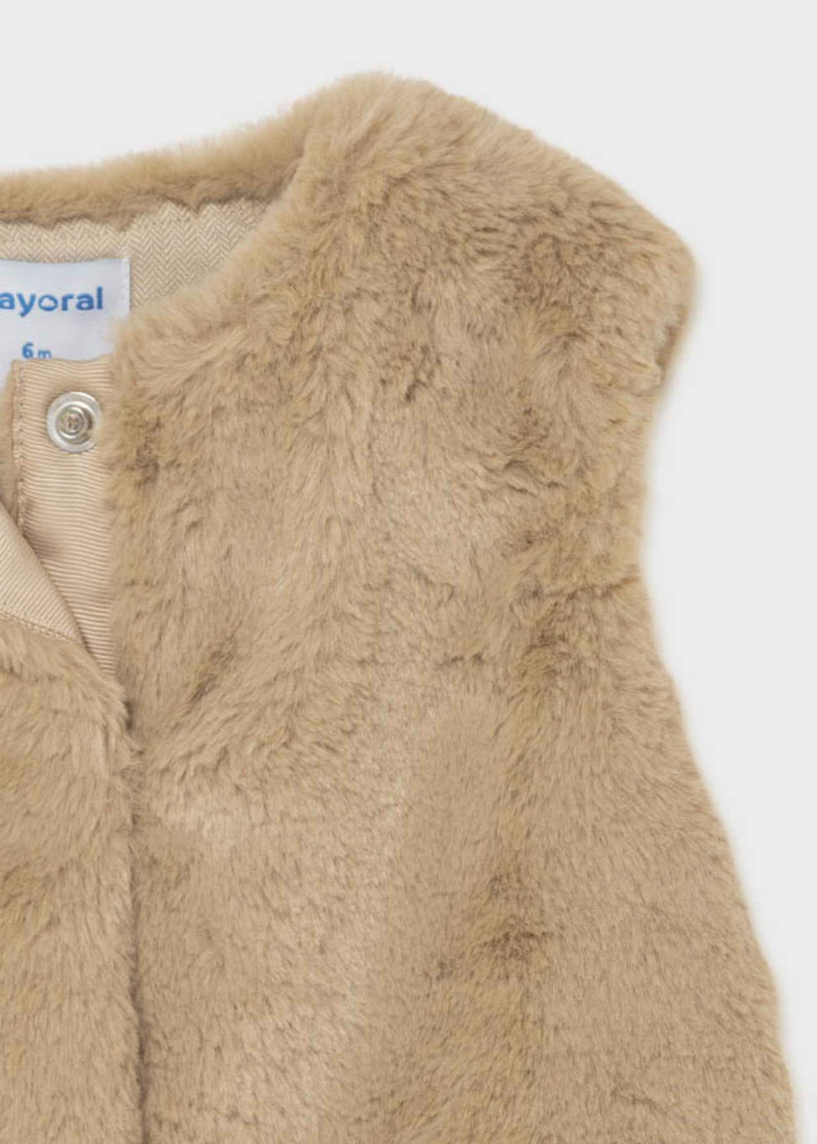 Mayoral Mayoral faux fur vest beige