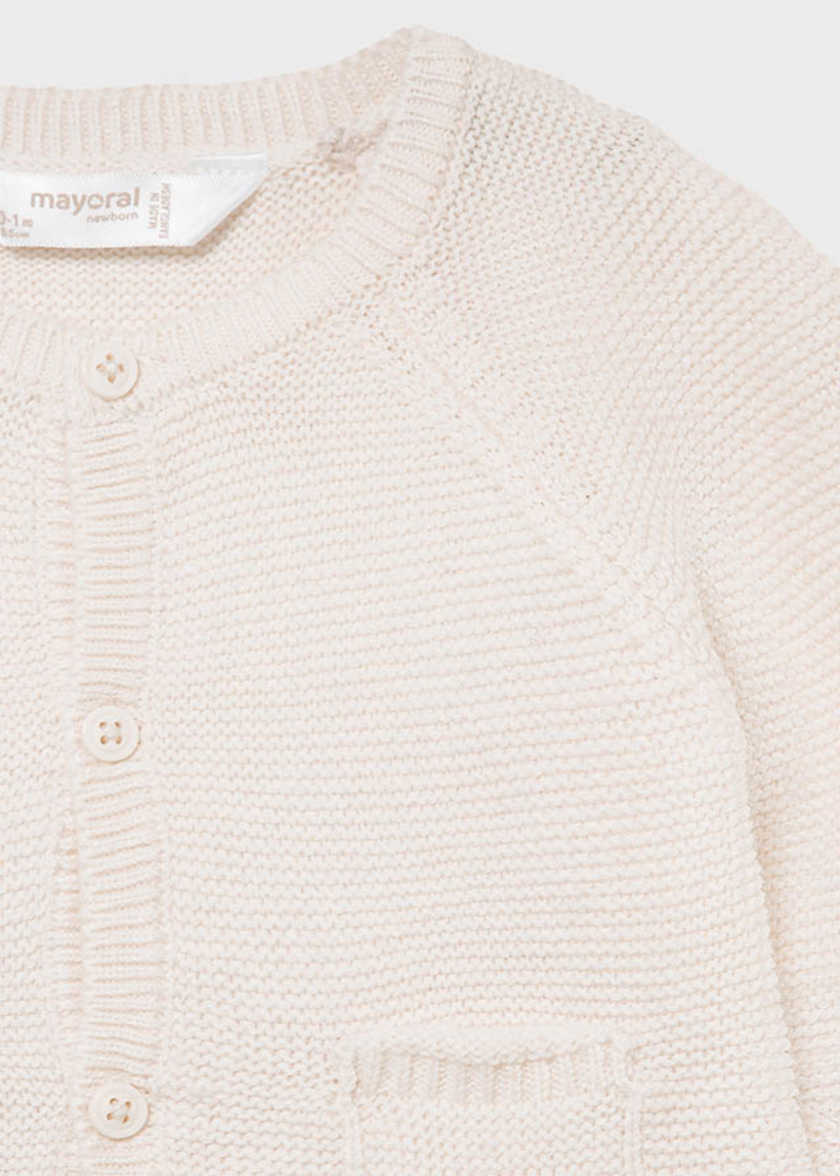 Mayoral Mayoral knit cardigan natural