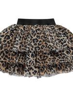 A Dee A Dee THEODORA Leopard print tule skirt