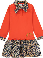 A Dee A Dee TAMMY Leopard print drop waist dress
