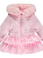 Little Adee Little Adee AUBREY Heart embroidery faux fur trim jacket
