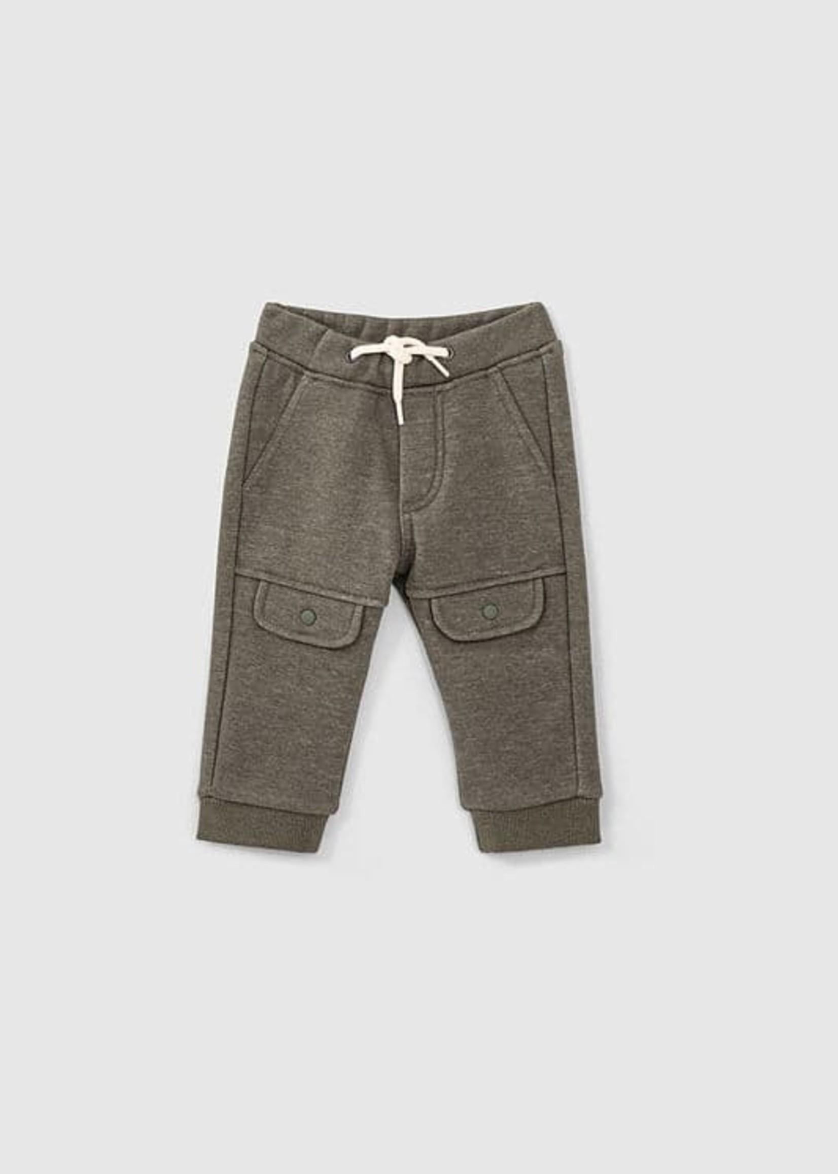IKKS IKKS Lichtkaki broek klepzakken aan knieën babyjongens