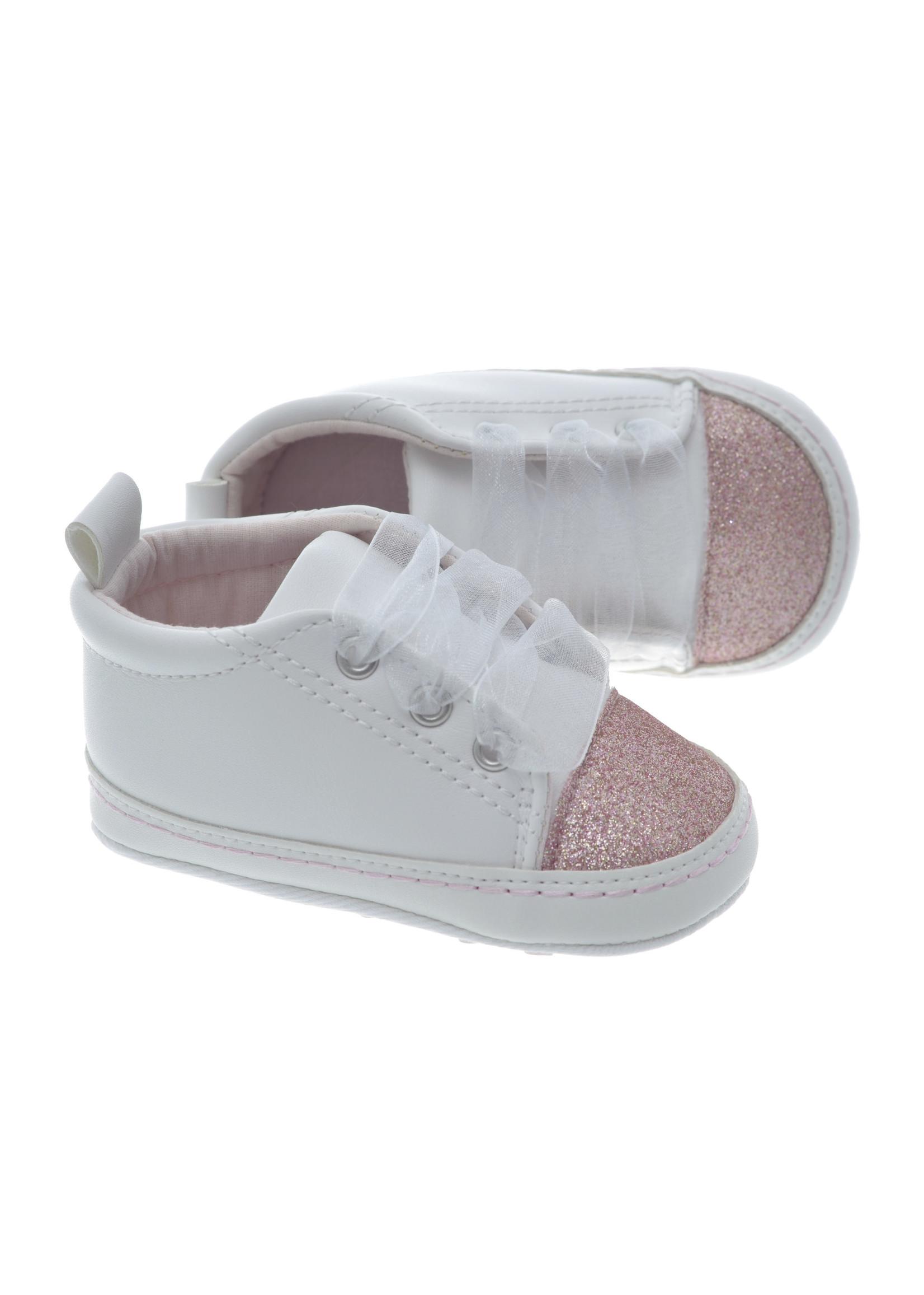 EMC EMC shoes wit met roze glitters