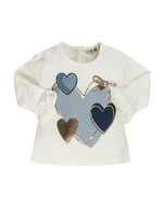 EMC EMC gold blue hearts tshirt