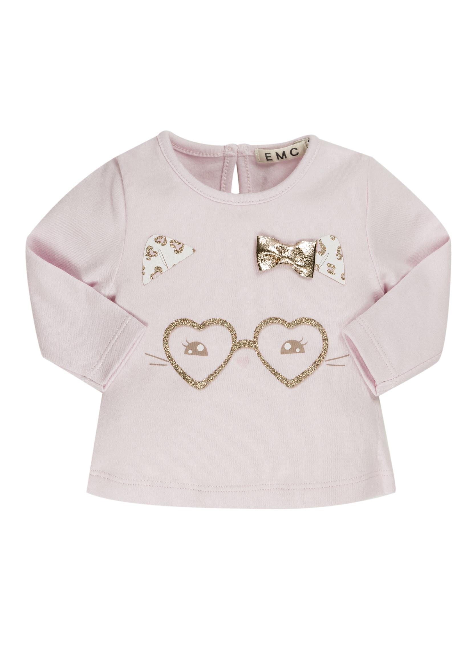 EMC EMC hearts glasses shirt pink