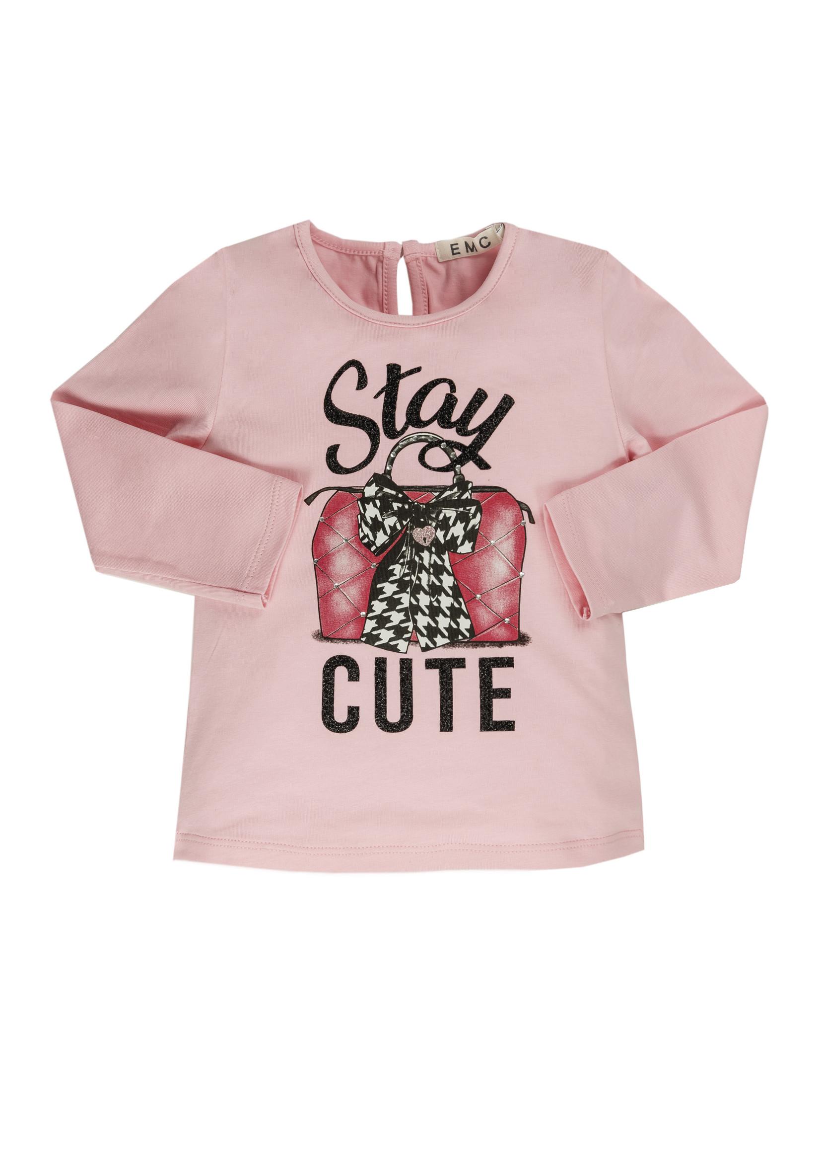 EMC EMC stay cute tshirt pink