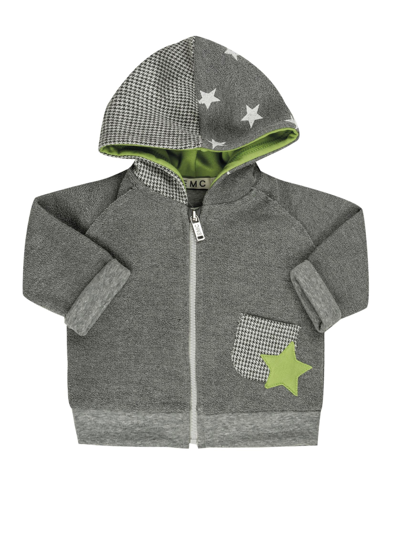 EMC EMC zipped hoodie green star