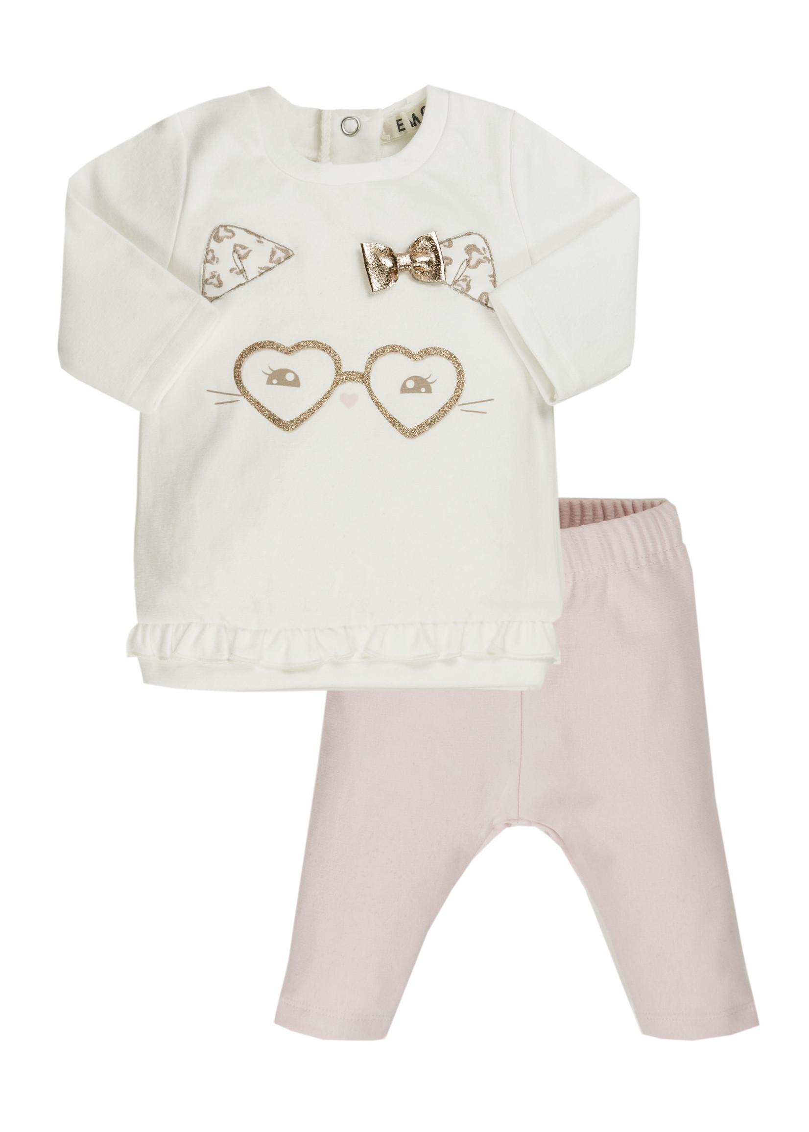 EMC EMC heart glasses set pink trousers